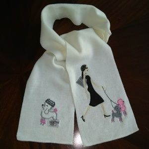 Collection XIIX Scarf Woman walking dog